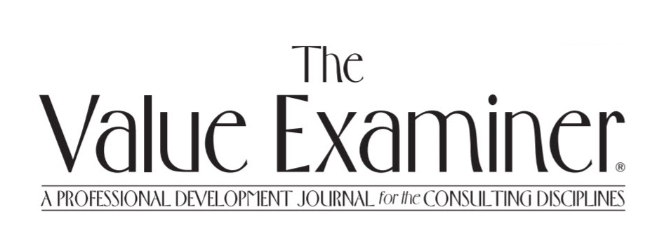 Announcing a New Column in The Value Examiner, Valuation Journal